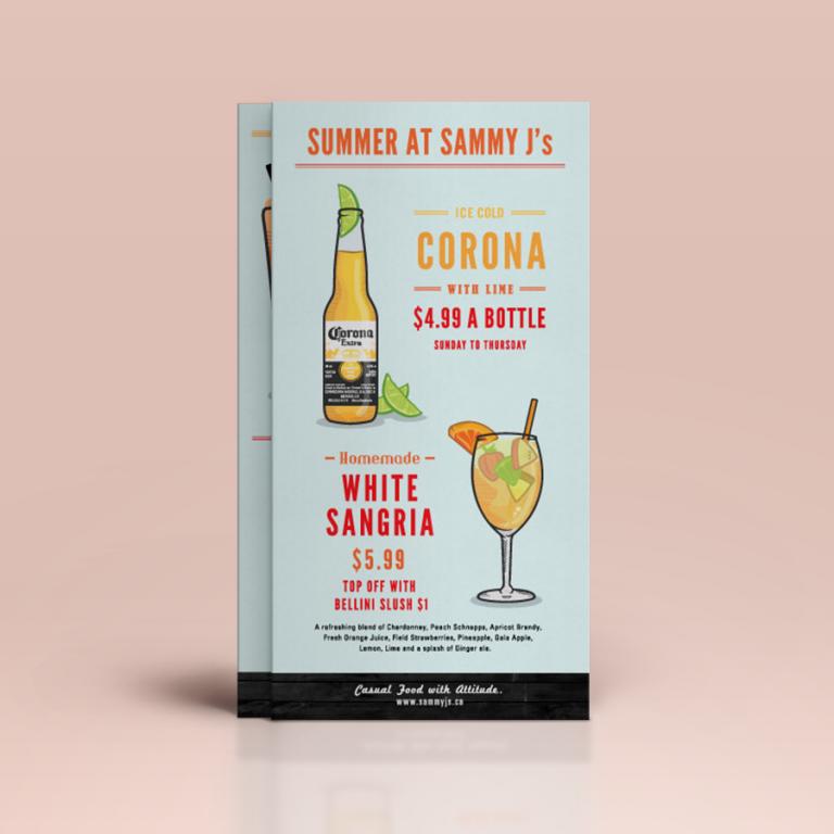 sammy j drink card