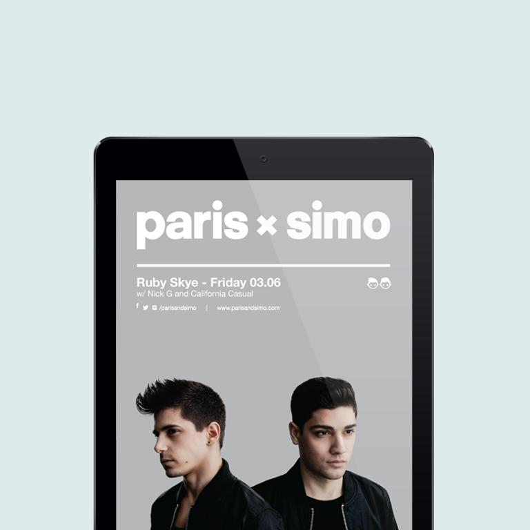 Paris and Simo Flyer