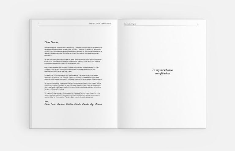 love letter project book design vancouver foreword