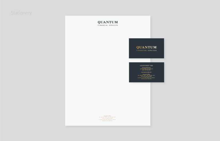 Quantum QFS stationery design