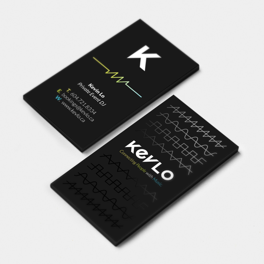 Dj Kevlo Business Card Design