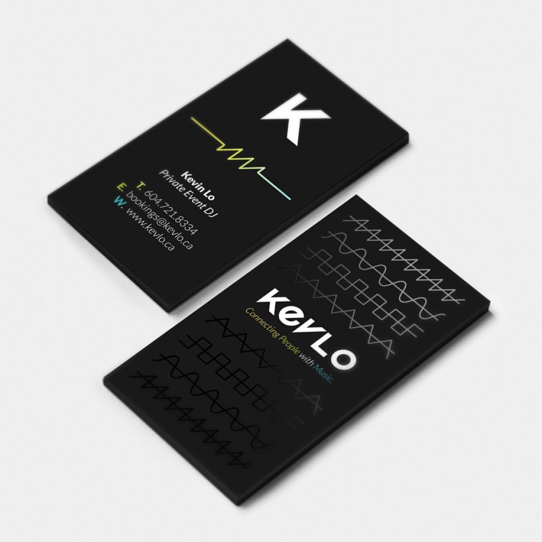 Dj Kevlo Business Card Design