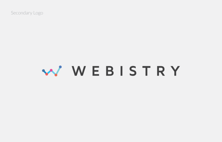 webistry logo horizontal, branding, logo design, ivy chan, vancouver